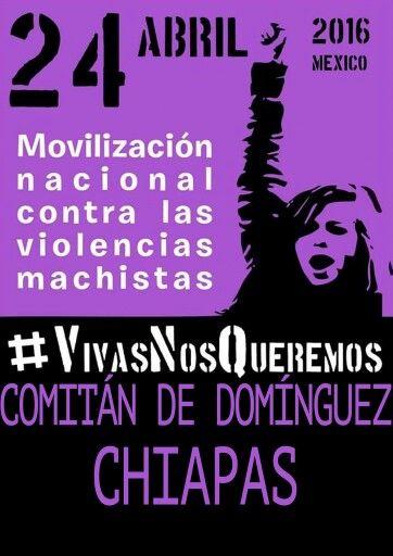 #24A Movilización Nacional Contra las  Violencias Machistas: #VivasNosQueremos #Comitán