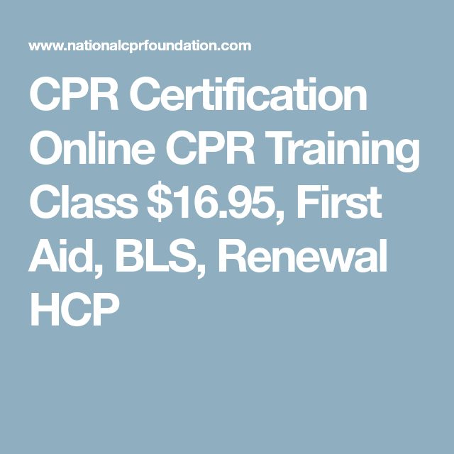 Cpr Certification Online Cpr Training Class 1695 First Aid Bls