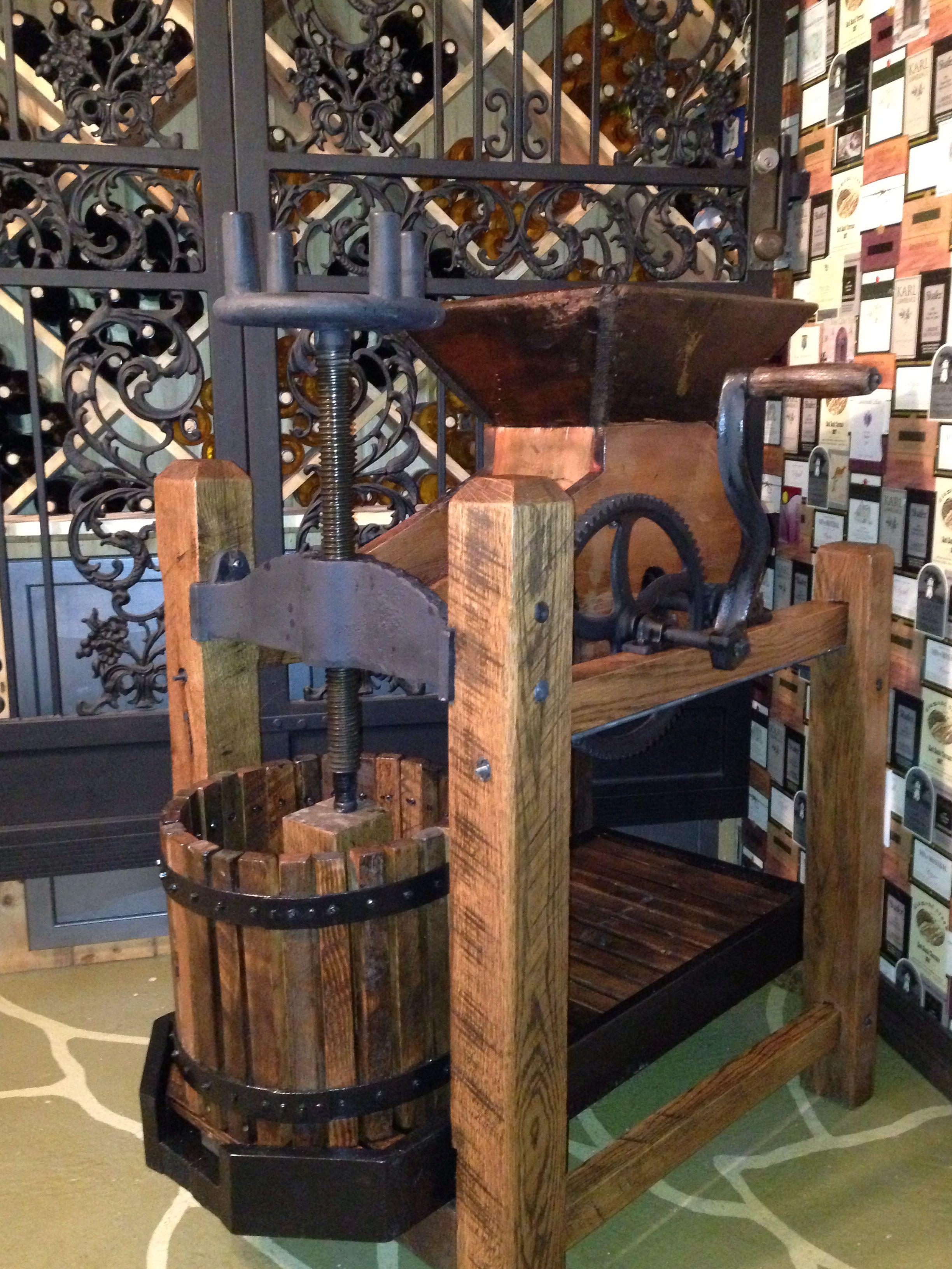 Antique Wine Press In Our Wine Room Wine Press Cider Press