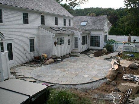 Bluestone Front Entrance | New Jersey Raised Bluestone Patio With Lower  Bluestone Sitting Area | Garden I Dream Of | Pinterest | Bluestone Patio,  ...