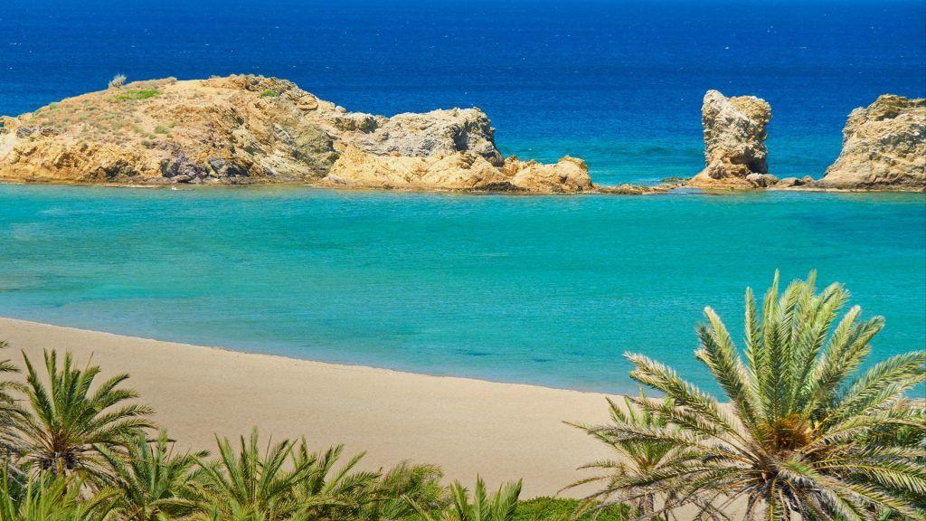 Vai Beach On Crete Island Greece In 2019 Crete Beaches