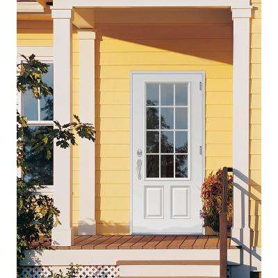 Jeld Wen 36 In X 80 In 12 Lite Primed Steel Prehung Left Hand Outswing Front Door Thdjw190900030 The Home Depot In 2020 Jeld Wen Exterior Doors Front Door Steel Doors Exterior
