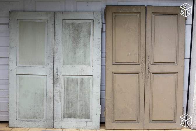 Lots de portes de placard anciennes en bois Décoration ...