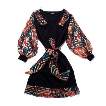 Knit Dress Black I