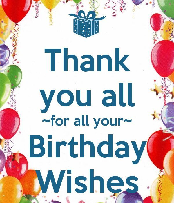 Thank you for birthday wishes messages – Thank You for the Birthday Card