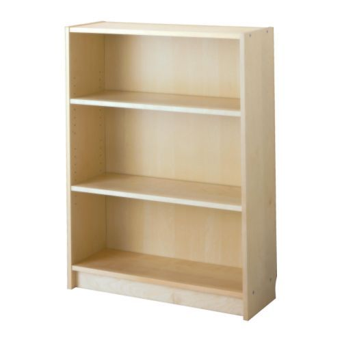 """Fits exactly under the chair rail in the study and guest room...BILLY Bookcase - birch veneer, 31 1/2x11x41 3/4 """" - IKEA"""
