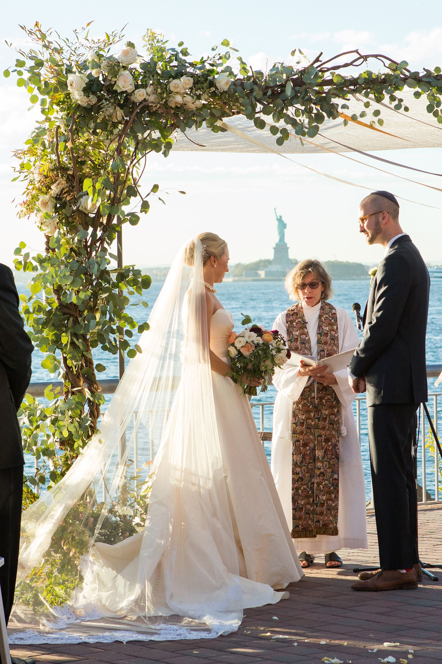 Bride Jenna in a custom Sara Gabriel veil. We used lace from mom\'s ...