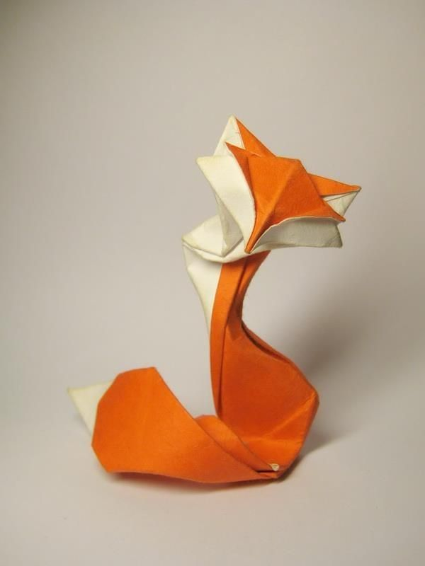 Orange And White Origami Fox For Kids Diy Paper Crafts Origami