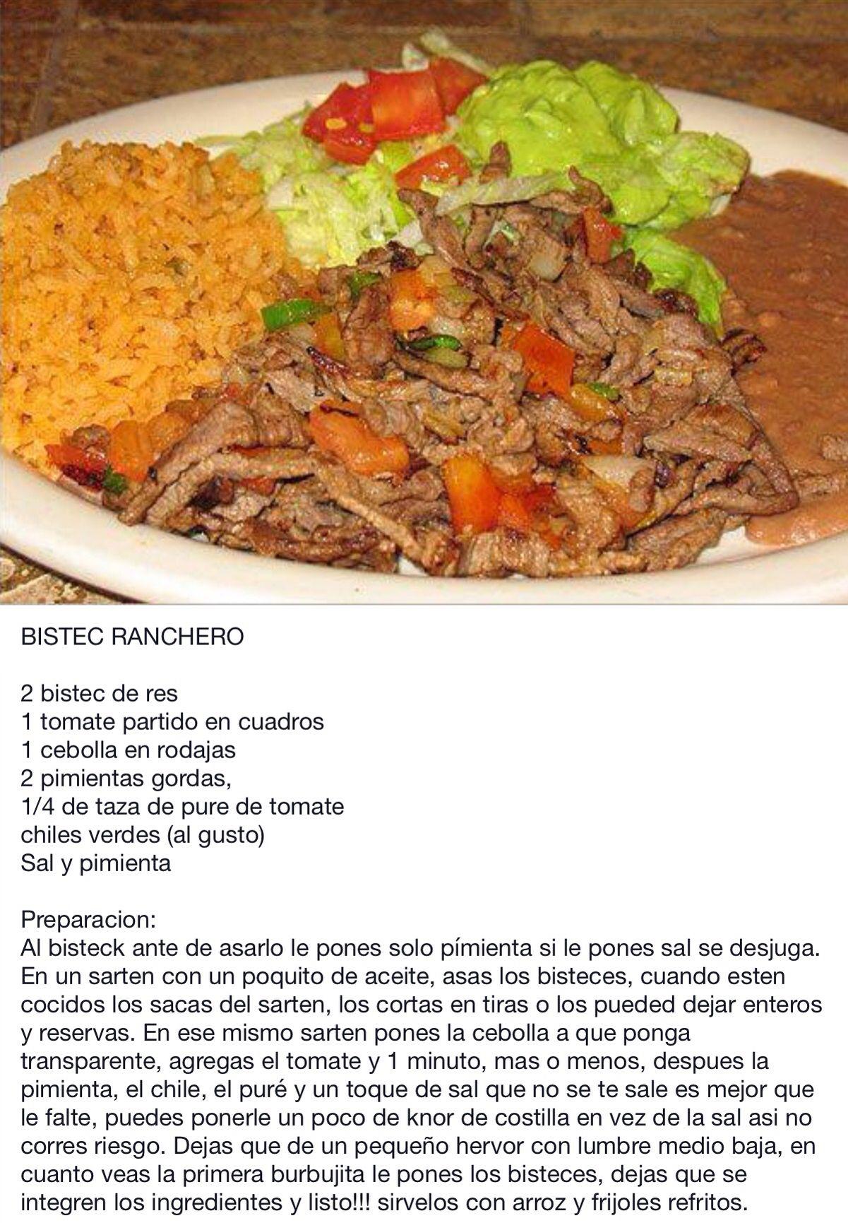 Bistec Ranchero   Mexican food   Pinterest   Mexicans, Mexican ...