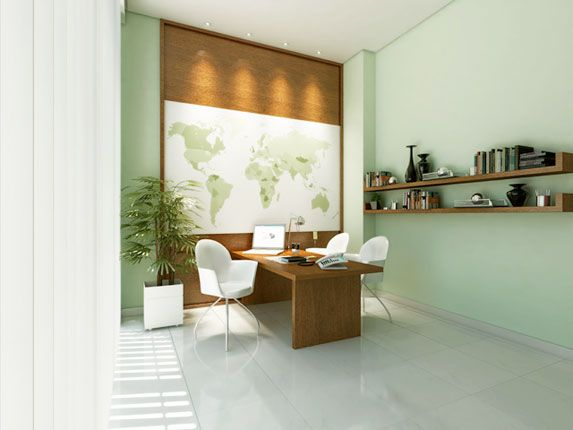 Home office design idea - pin to the wall something that is