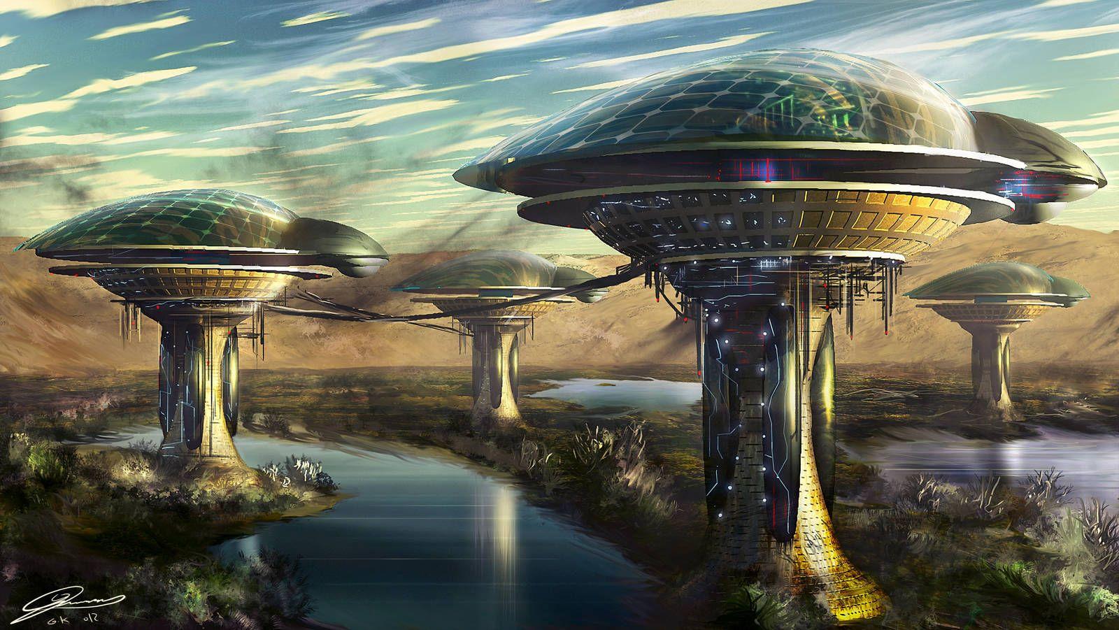 смотреть в картинках футуристические планеты