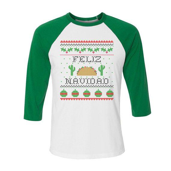 Feliz Navidad, Ugly Christmas Sweater,Christmas Ugly Sweater Party, Spanish Christmas, Latin Christmas, Mexican Christmas