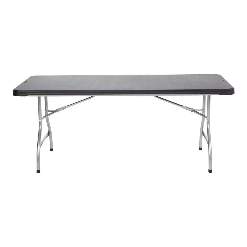 Lifetime 72 In Black Plastic Stackable Folding Banquet Table Set Of 4 480350 The Home Depot Folding Table Lifetime Tables Banquet Tables