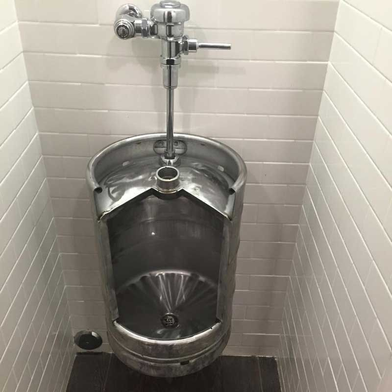Man Cave With Urinal : Keg urinal beer and men cave
