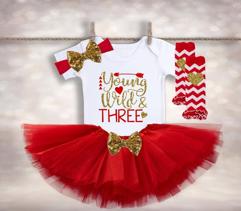 Baby Girls Frilly Tutu Knickers /& Bow Clip Red My 1st Christmas Outfit Prop Set