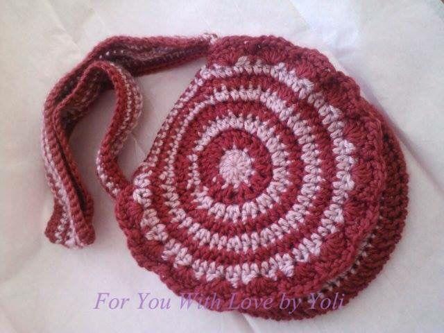 #Crochet girls bag.
