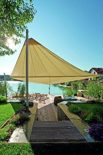 Mit praktischen Fundamentplatten schnell und einfach zur neuen - vorteile sonnensegel terrasse