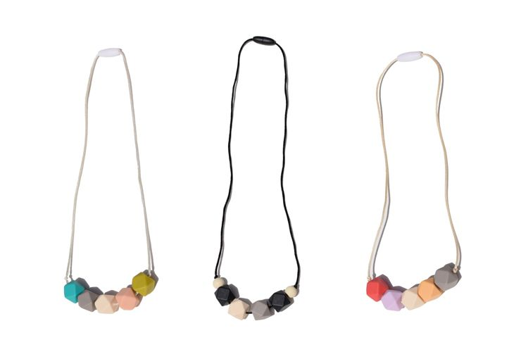 Mama And Little Teething Necklace Baby Chewing Beads Using Hexagon