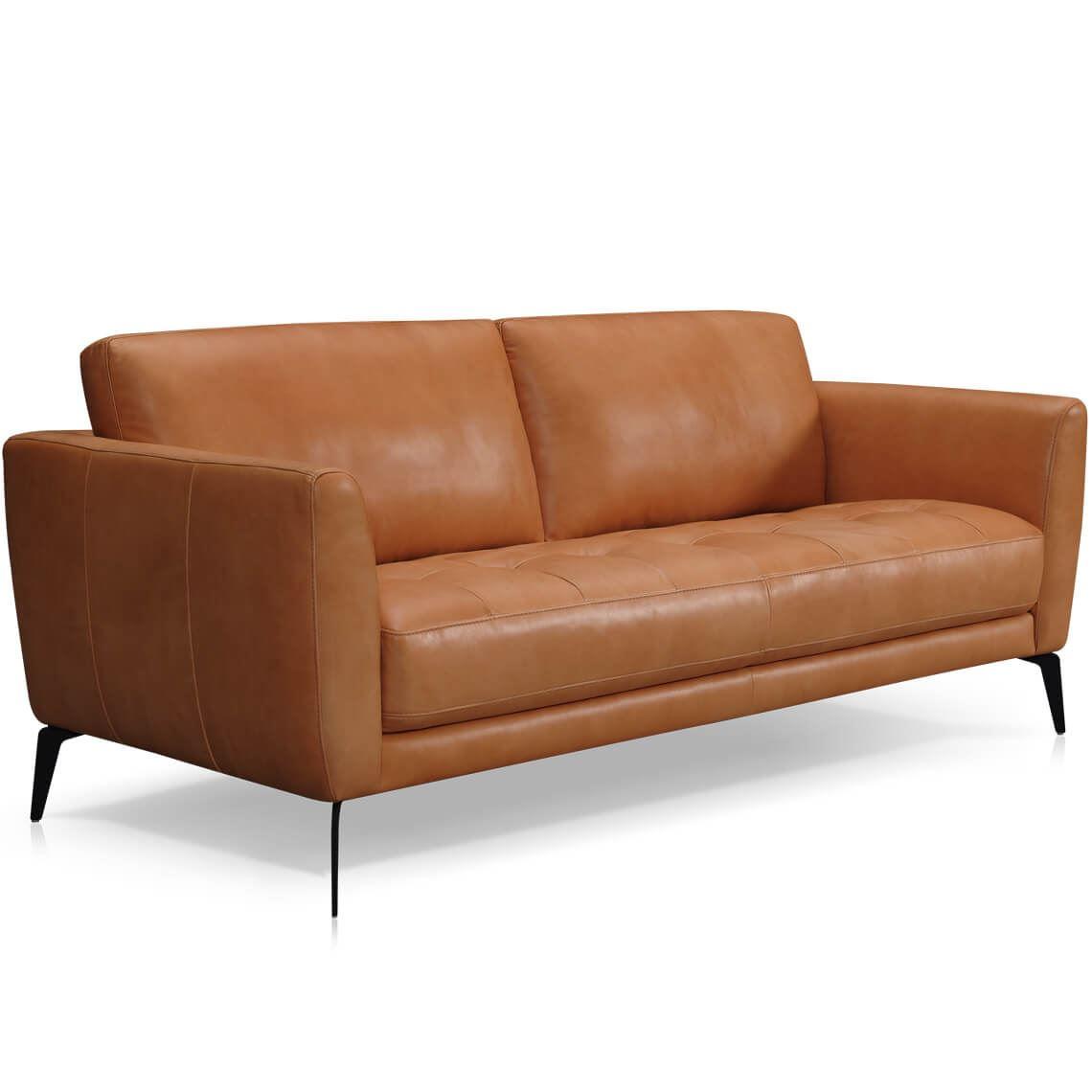 Attica 3 Seat Leather Sofa Caramel Leather Sofa Sofa Leather Seat