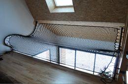 fabrication de filet et trampoline pour habitation et mezzanine filet garde corps france. Black Bedroom Furniture Sets. Home Design Ideas