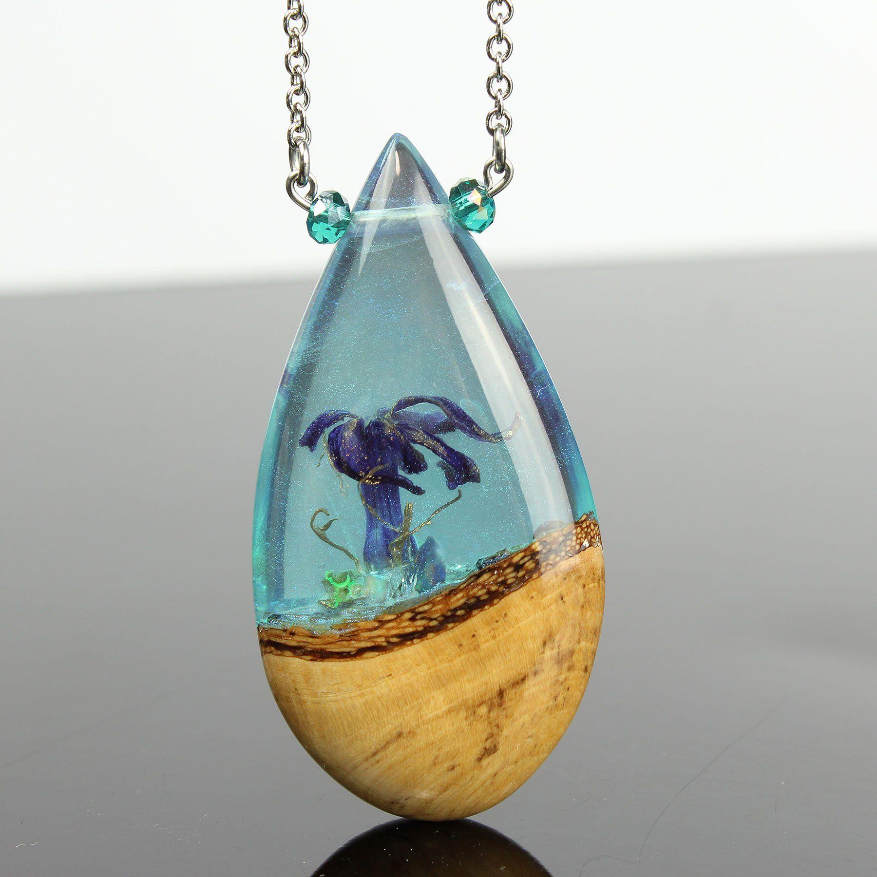 Handmade Iridescent Pendant