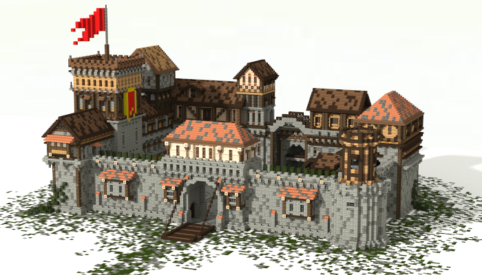 Minecraft Exploded Builds Medieval Fortress Download