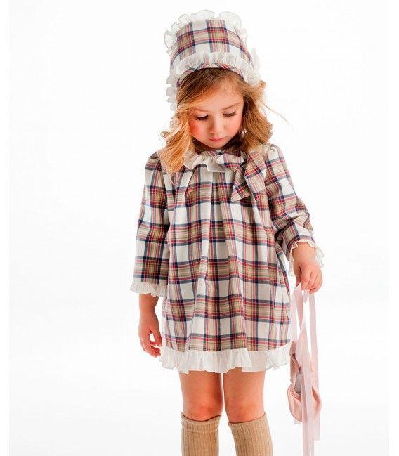 Vestido niña cuadros COCOTE