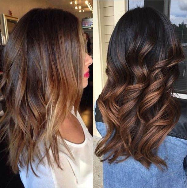 Medium Length Brunette Hairstyles Hair Styles Long Hair Styles Hair
