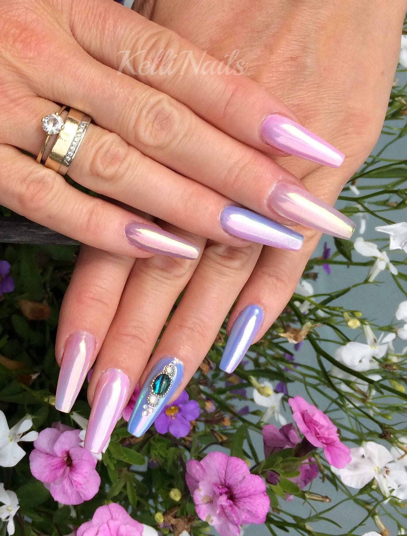 Moderne Nägel Aurora Nails Aurora Nägel Coffin Ballerina Nägel