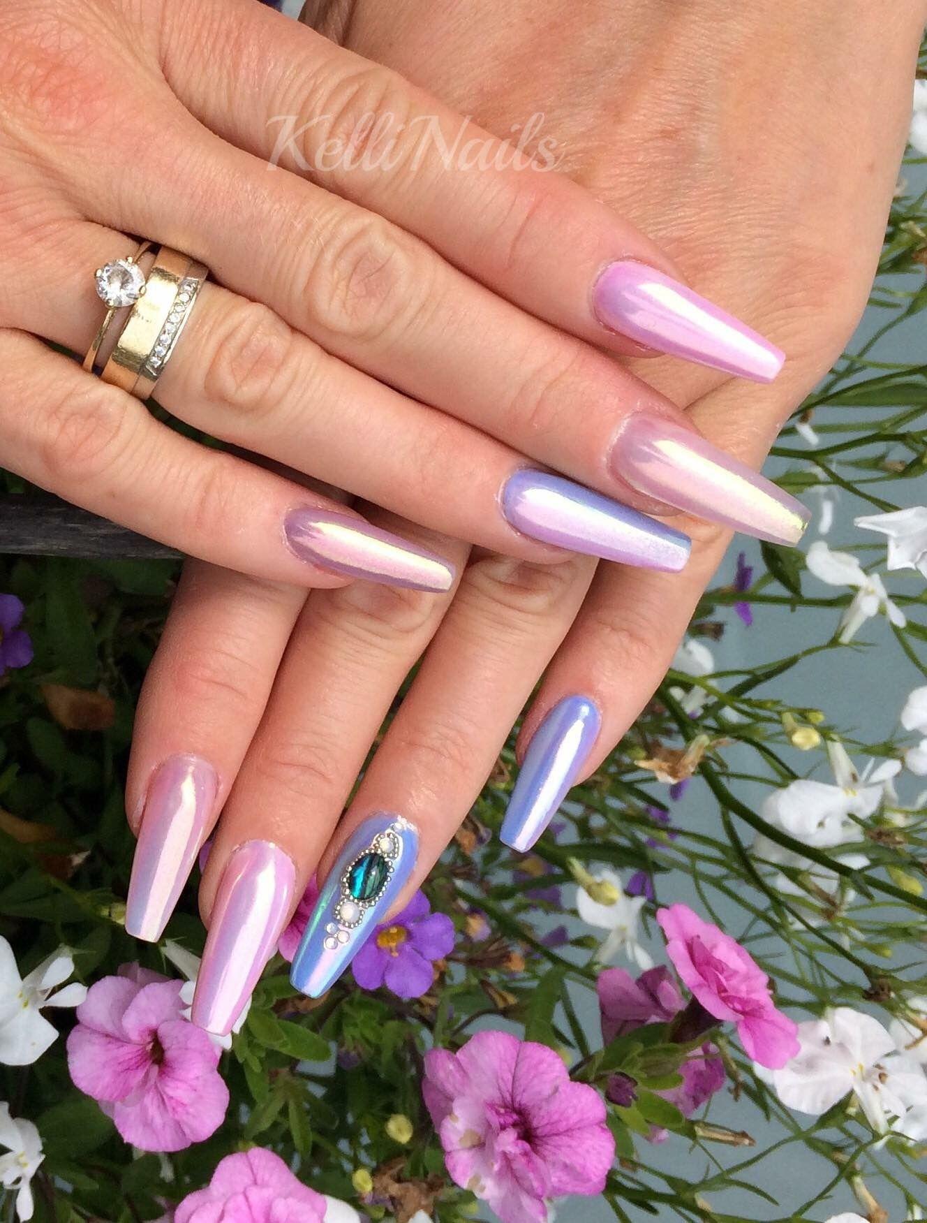 Aurora Nails, aurora Nägel, Coffin, ballerina nägel, nailart modern ...