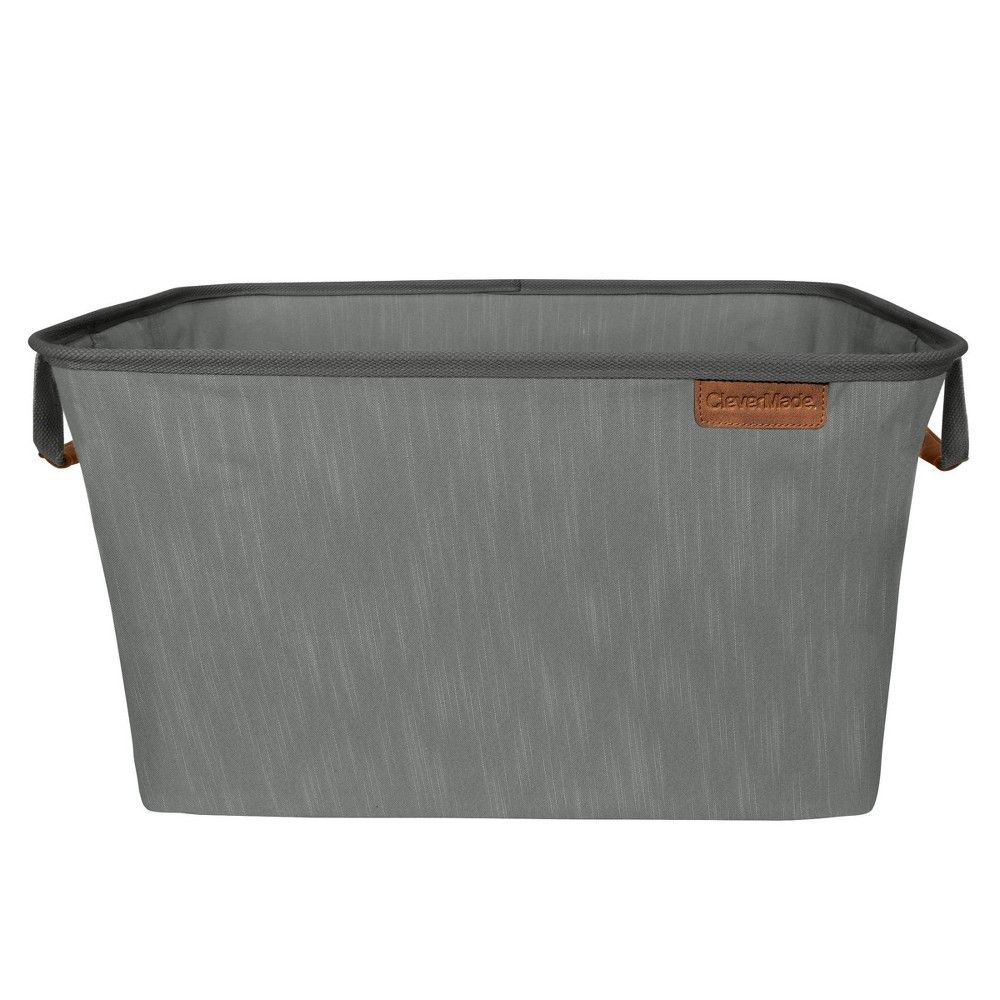 Clevermade Laundry Basket Luxe Gray Target Laundry Basket