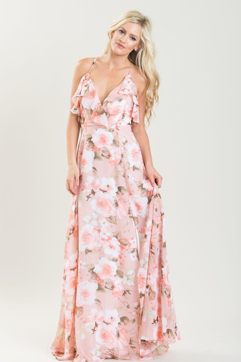 26e701d2b5 Scarlette Pink Floral Maxi Dress | dresses | Pink floral maxi dress ...