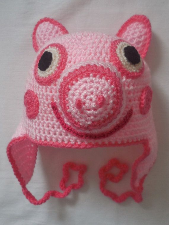 Pig Crochet Hat Pattern English And American Terms Knitting Fun