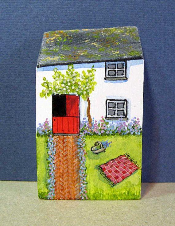 Trug Cottage by jamjarart on Etsy by Joy Williams.