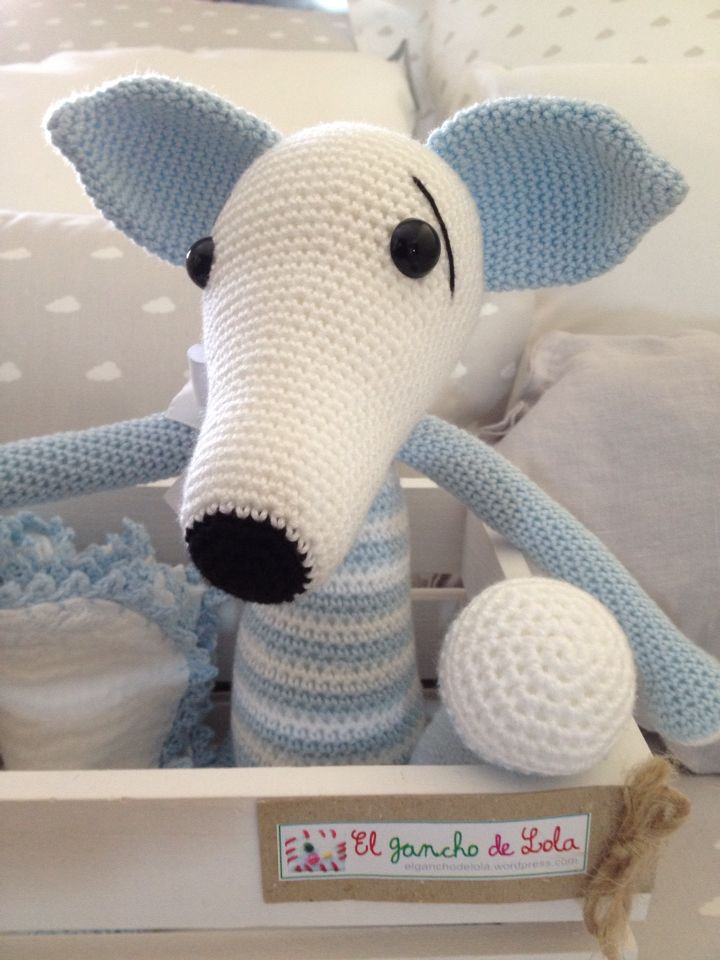 Amigurumi galgo. | Greyhound crochet | Pinterest | Galgos, Mono y ...