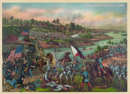 History This Is A Picture Of The American Filipino War Going On You Can See All The People Fighting And See Th American History Timeline American War History
