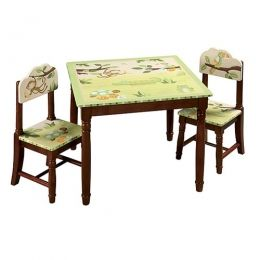 fb320df45912 Hand-painted and hand-carved jungle chidren t table and chairs set.  Guidecraft g85402
