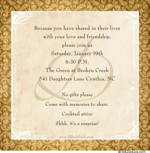 50th Wedding Anniversary Invitation Ideas: Lasting Love, Matching Insert