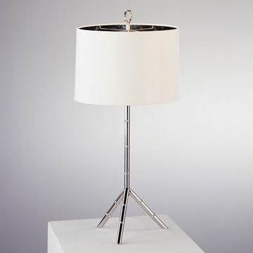 Jonathan Adler Meurice Table Lamp In Polished Nickel Lighting