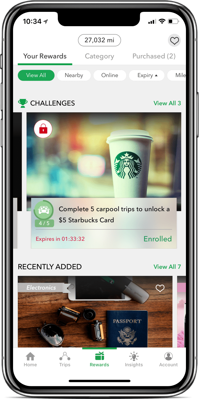 Free 5 Amazon Gift Card with Miles App Starbucks card