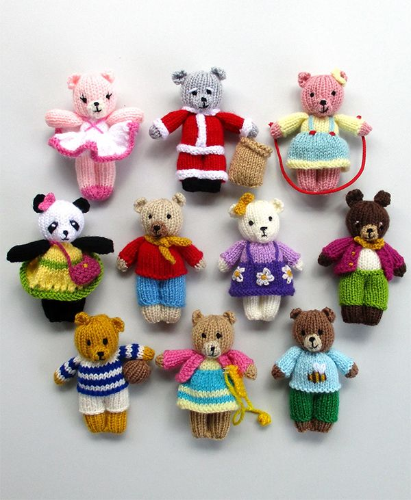 Knitting Patterns for 10 Busy Little Bears - Instructions ...