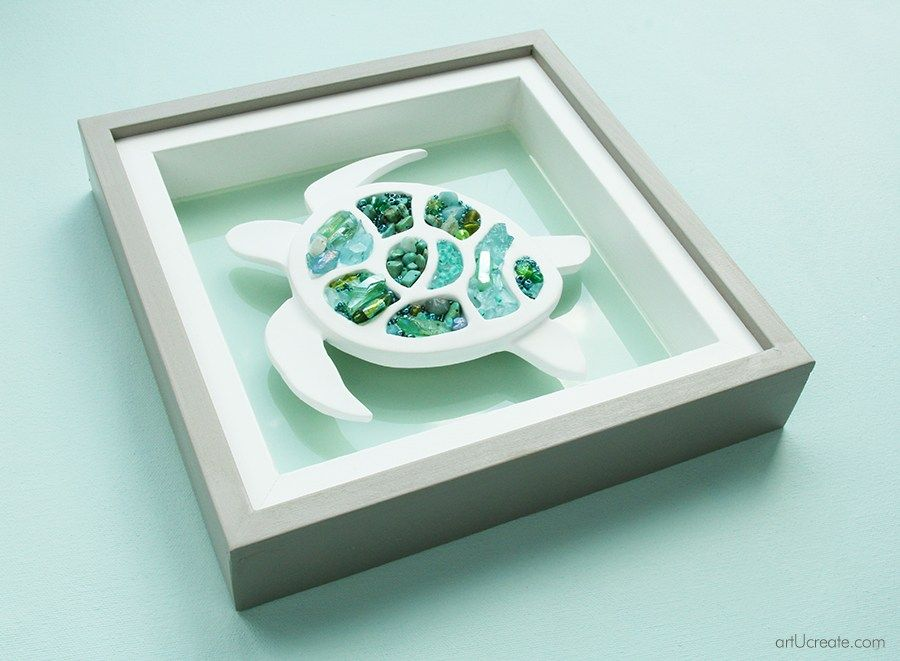 DIY Sea Turtle Beach Wall Art – art u create