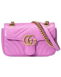 877c0c1075f461 Gucci | Gg Marmont Medium Quilted Leather Shoulder Bag | Lyst ...