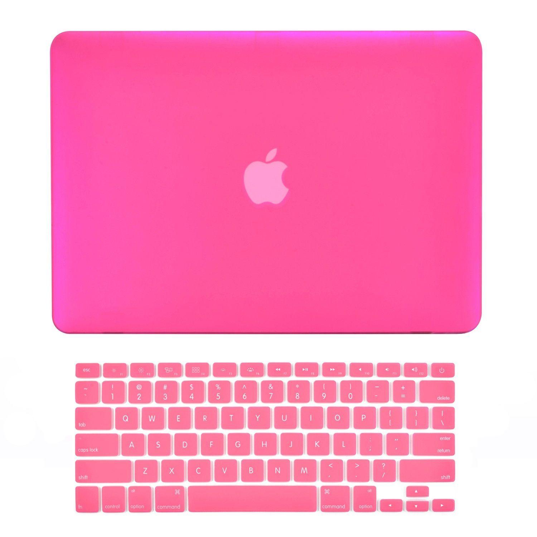 TD Hard Shell Case Cover /& Rubberized Keyboard Skin 2018 Apple Mac Book Macbook