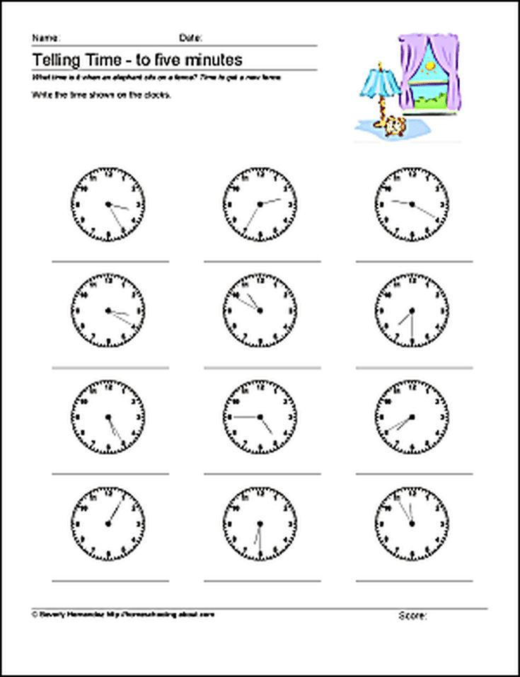 Teach students to tell time to 10 five and one minute with these teach students to tell time to 10 five and one minute with these printables ibookread Read Online