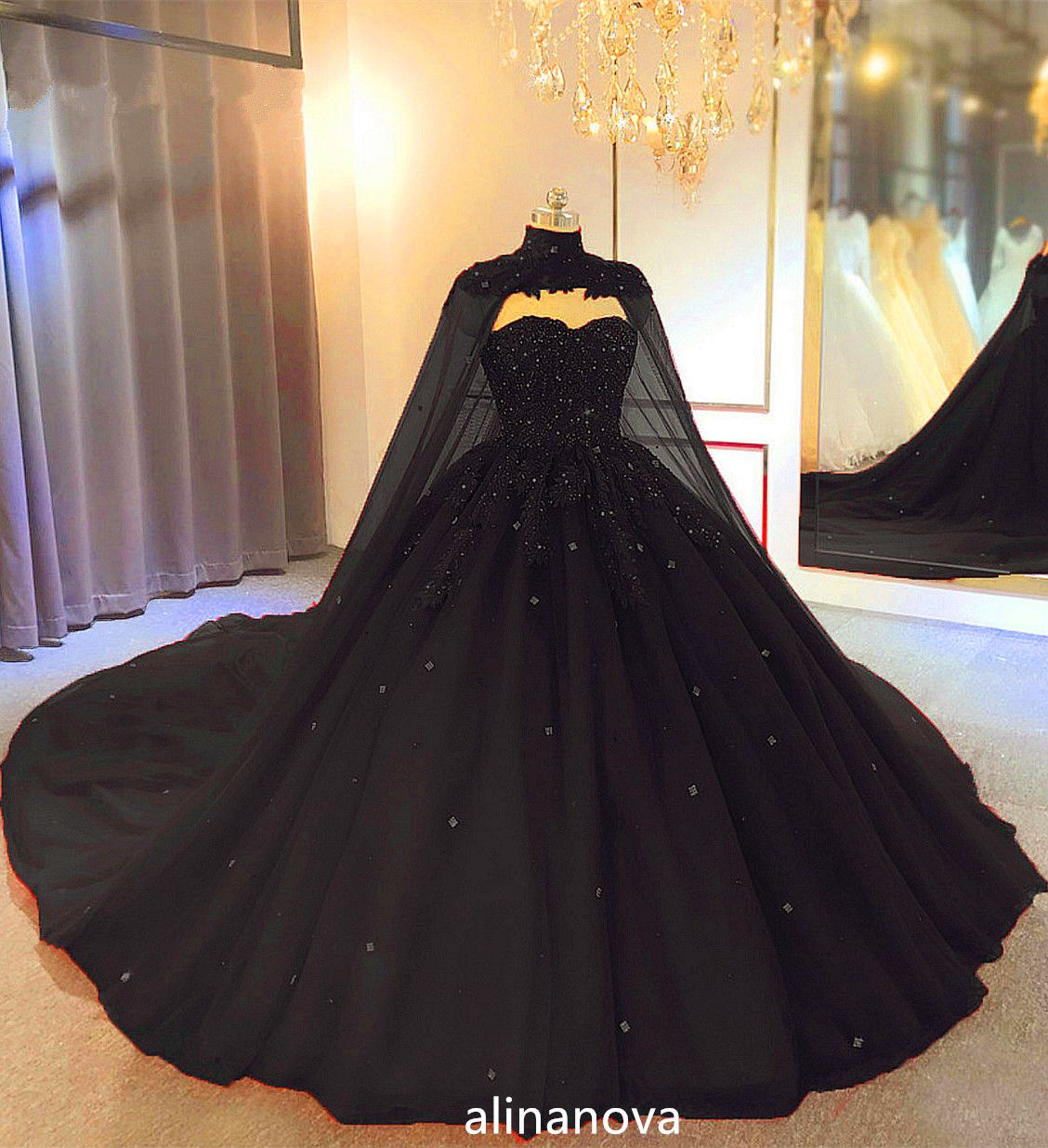 Tulle Ball Gown Wedding Dress With Cape Ball Gowns Wedding Princess Ball Gowns Gowns [ 1235 x 1128 Pixel ]