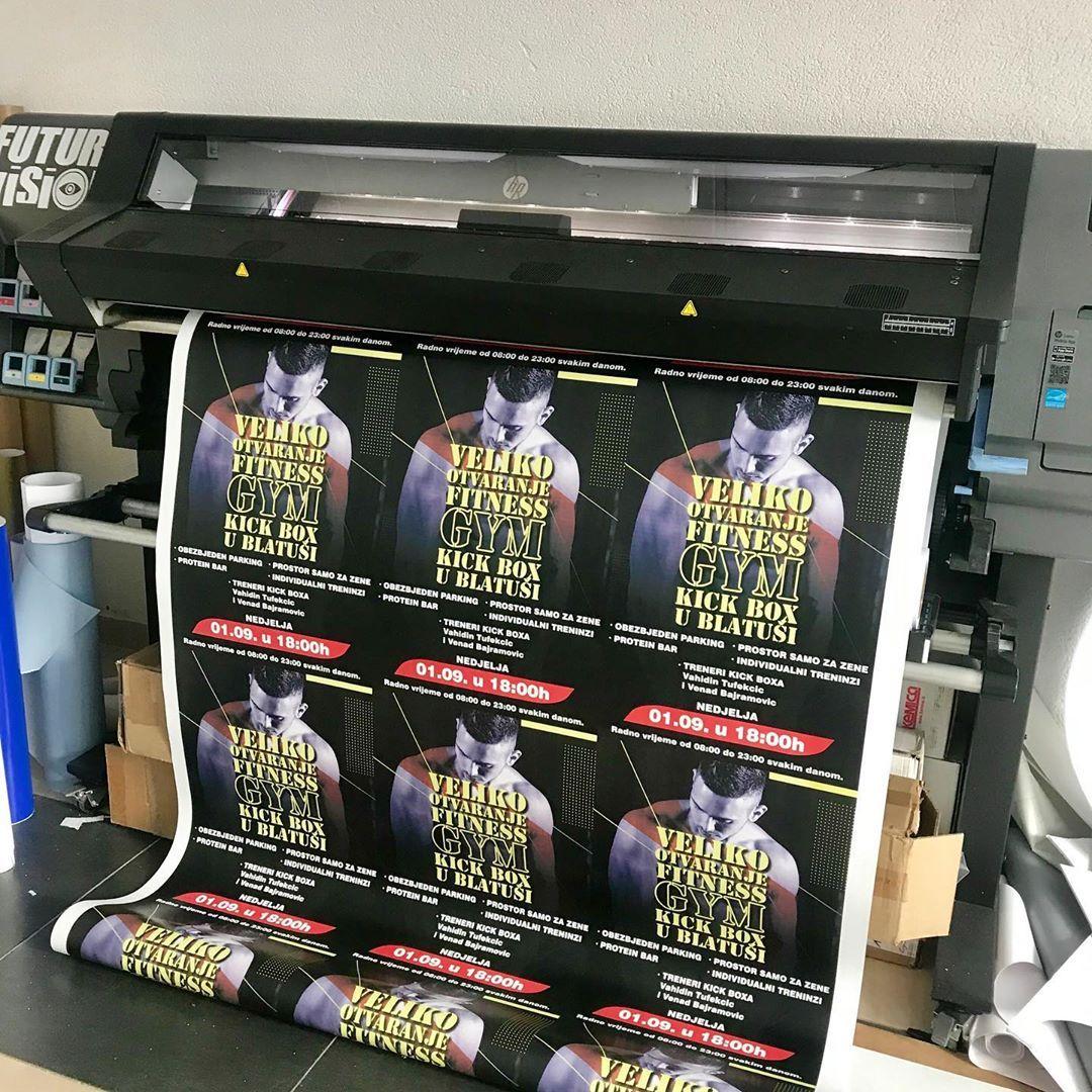 Usluge grafickog dizajna i printa plakata #branding #brand #gym #fitness #zenica #sarajevo #mostar #...