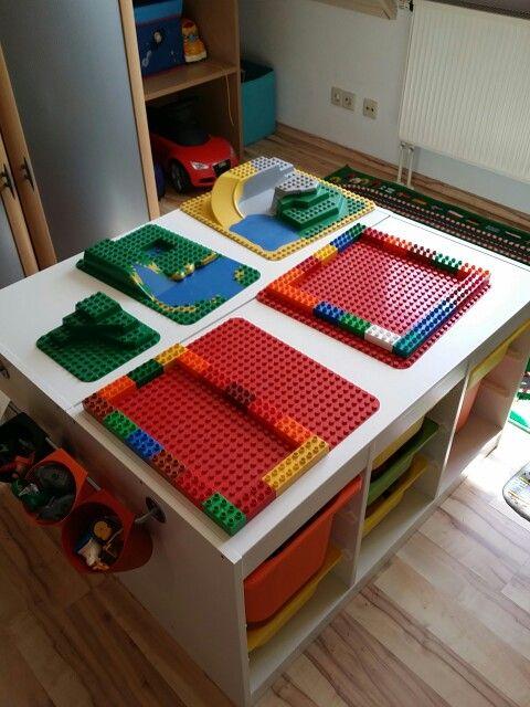 Ikea lego tisch kinderzimmer kinderzimmer kinder - Lego duplo ideen ...