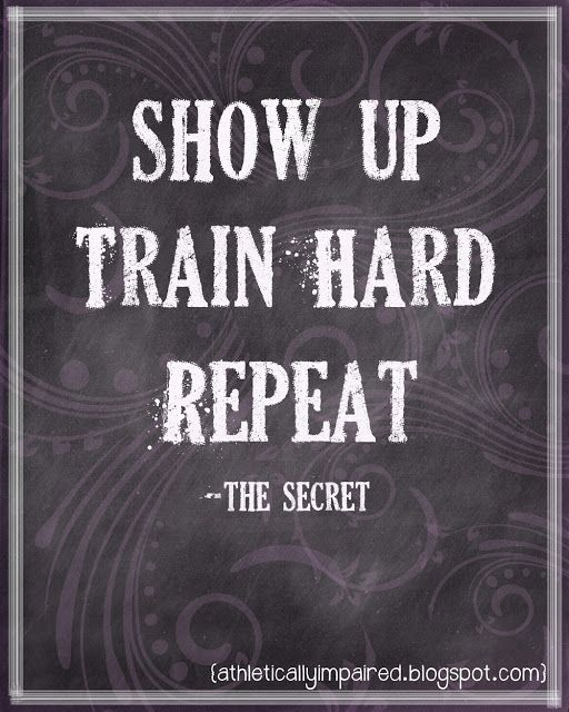 Show Up. Train Hard. Repeat.