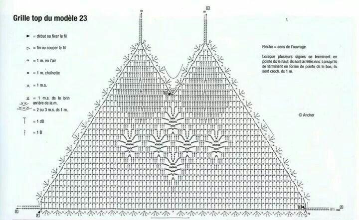Crochet halter top graph pattern mesh bikini festival | Crochet ...